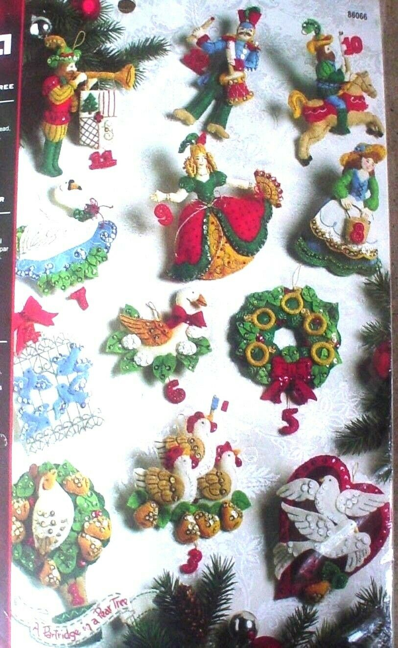 Bucilla 12 Days of Christmas ~ Felt Ornament Kit #86066 Part
