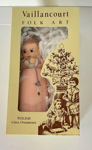 Folk Art Baby Pink Dress Vaillancourt Glass Ornament Poland Baby Shower Reveal