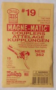 Kadee #19 NEM 362 Long Magne-Matic couplers - HO/OO scale (2 pair)