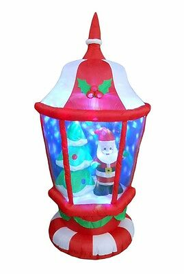 USED 6 FT Christmas Inflatable Lantern Santa Claus X'mas tree Outdoor - Inflatable Decoration