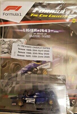 F1 FORMULA 1 = THE MODEL CAR COLLECTION # 105 = LIGIER JS43 1996