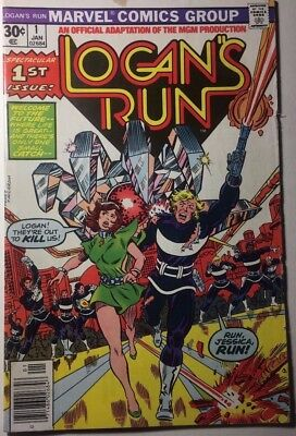 LOGAN'S RUN #1 (1977) Marvel Comics VG+/FINE-