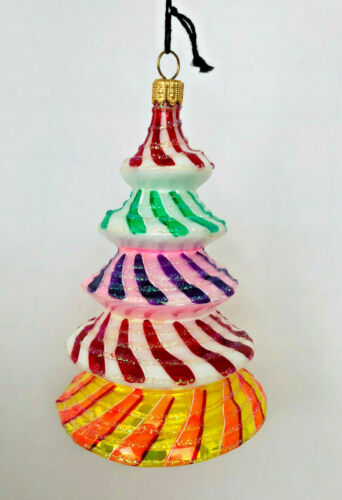 GLITTERAZZI LOLLYPOP TREE * GLASS ORNAMENT * NEW Joy to the World