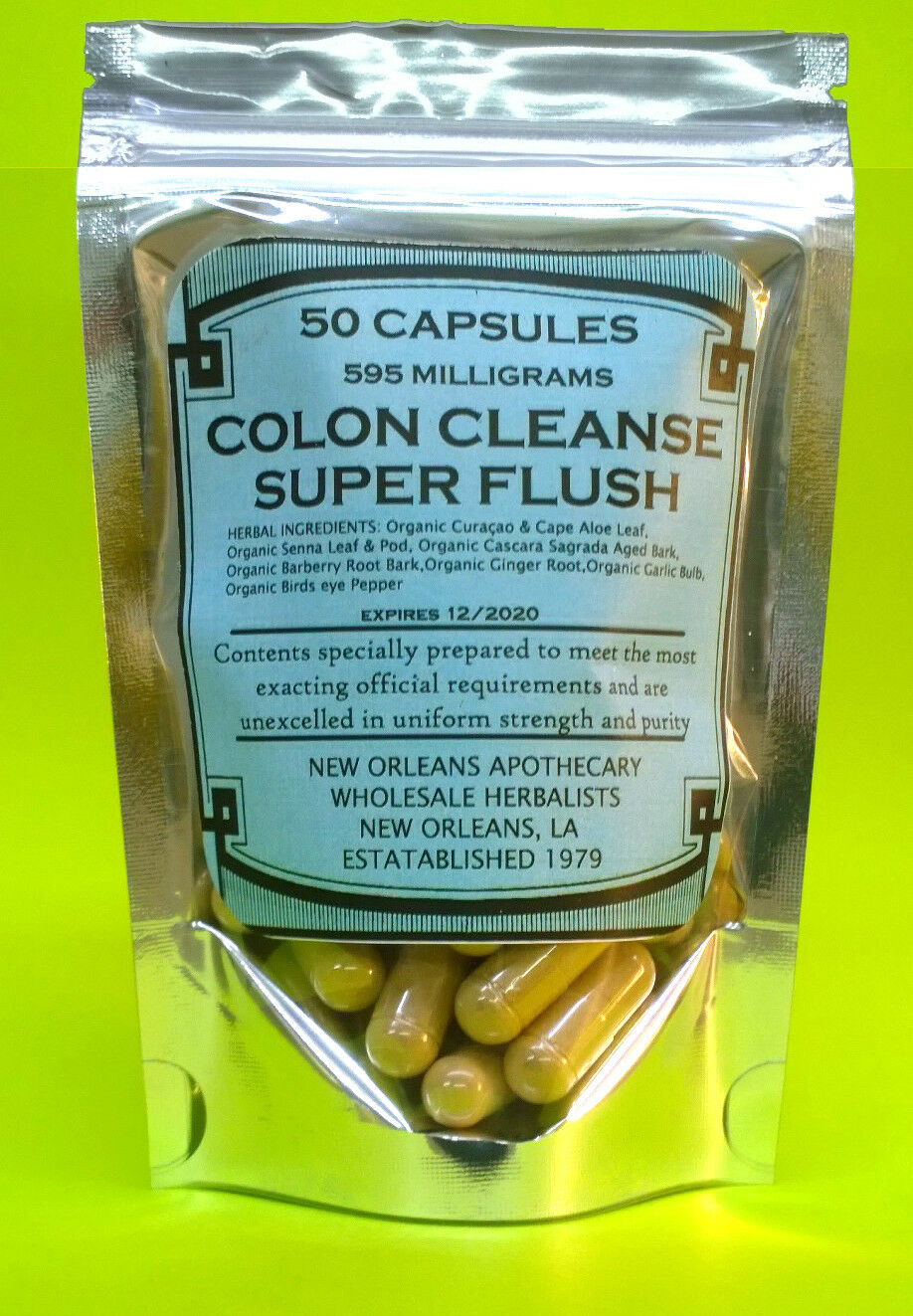 COLON CLEANSE*SUPER FLUSH**ALL ORGANIC HERBS**FLUSH POUNDS**LOSE WEIGHT**