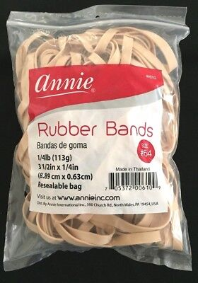 Brand New Annie 610 Beige Rubber Bands Size 64 3-12x 14 14lb Bag