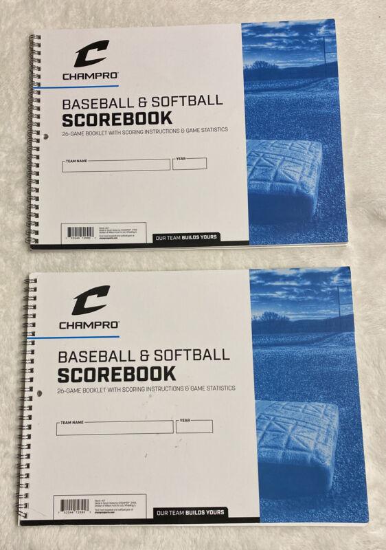 Champro Baseball & Softball Scorebook 2pack