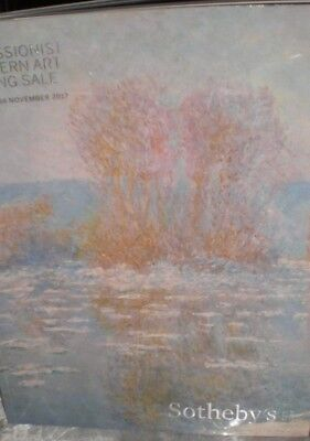 SOTHEBY' Impressionist and current evening sale november 14, 2017 brand new