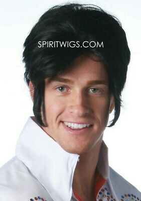 1950s Halloween Wigs (ELVIS 1950's Character Deluxe Halloween Costume Theatrical Wig by)