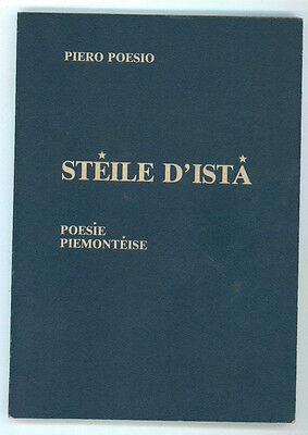 POESIO PIERO STEILE D'ISTA' POESIE PIEMONTEISE GILI ANNI '80 DIALETTO