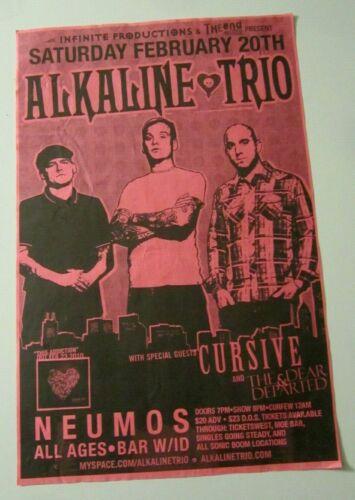 Alkaline Trio 2010 Seattle WA Concert Original Poster w/ Cursive + Dear Departed