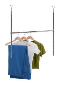 Closet extender rod for hanging boots or clothing, bags etc,