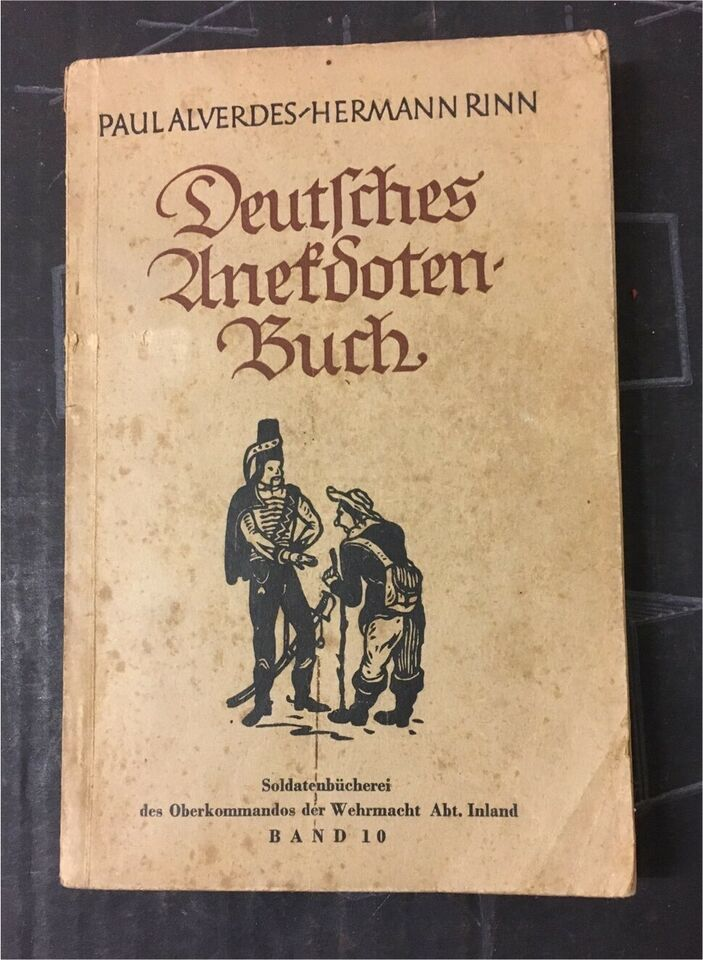 "Altes antikes ""Deutsches Anekdoten-Buch"" in Hamburg"
