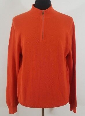 RALPH LAUREN POLO GOLF Men's Large 1/2 Zip Orange Sweater NWT New with Tags