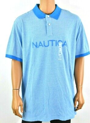 Nautica Mens Polo Shirt New 3XL Blue Short Sleeve Nautica Logo Collared Casual
