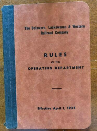 1935 Delaware, Lackawanna & Western Railroads Operating Department Rules Booklet