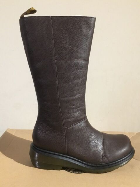 DR MARTENS CHARLA RICH BROWN BROADWAY BOOTS UK SIZE 3