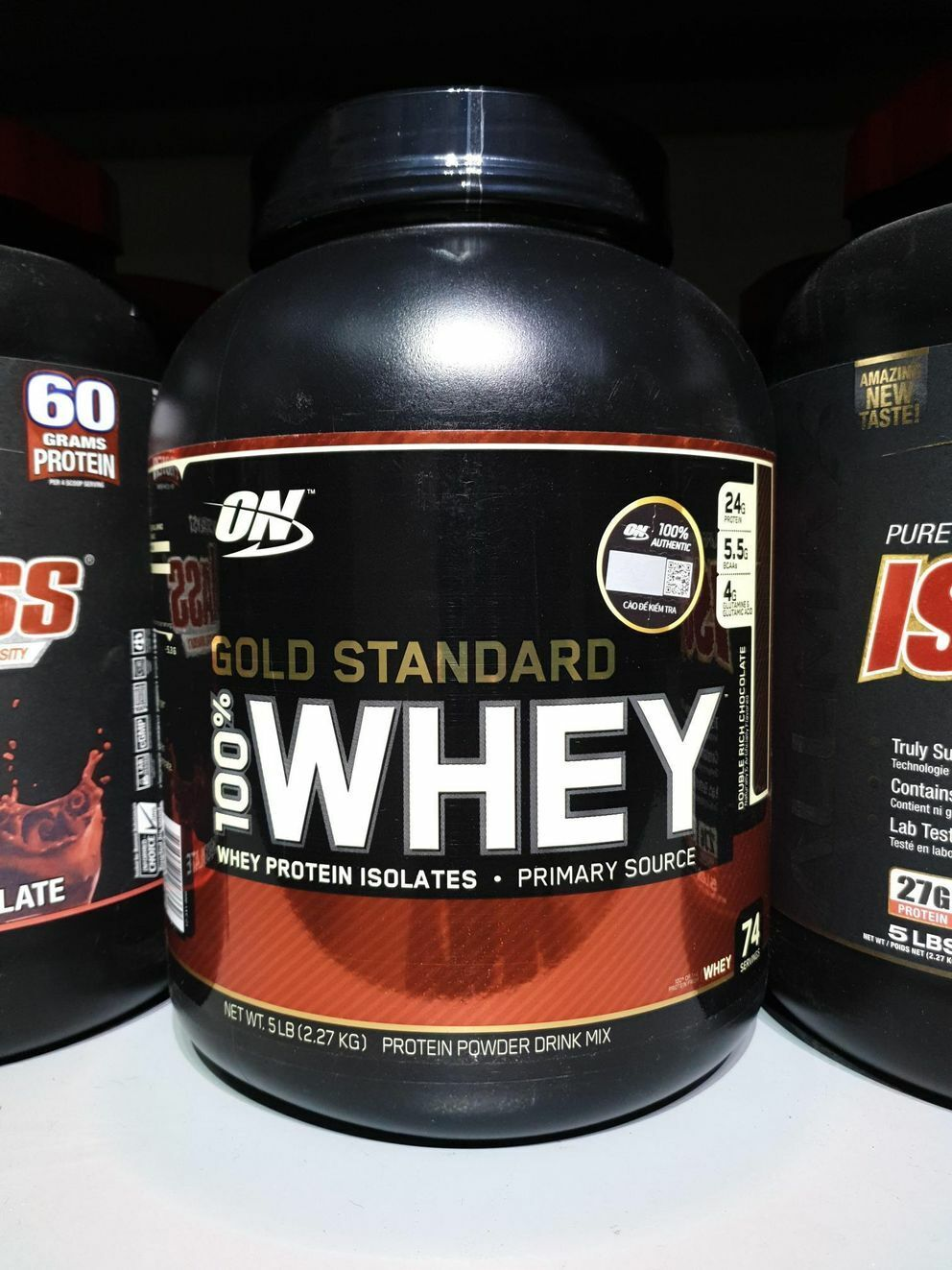 Optimum Nutrition Gold Standard Whey Protein, Double Rich Ch