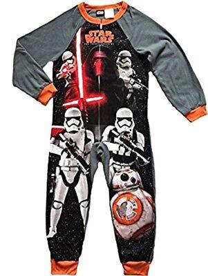 Star Wars Boys One Piece Fleece Sleeper Pajamas PJ Kylo Stormtrooper Sleepwear (Star Wars Fleece)
