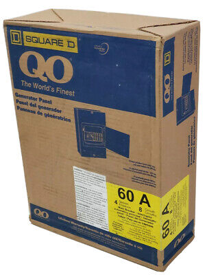 Square D Main Breaker Generator Interrupter Panel 60 Amp Indoor Circuit Breaker