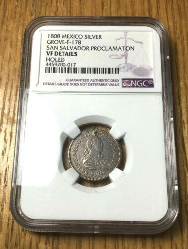 1808 El Salvador medal silver real San Salvador mexico NGC FERNANDO VII