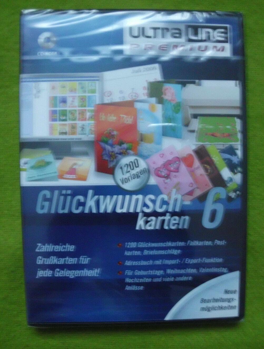 CD Rom PC Software Glückwunschkarten 6 , 1200 Grußkarten für jede Gelegenheit