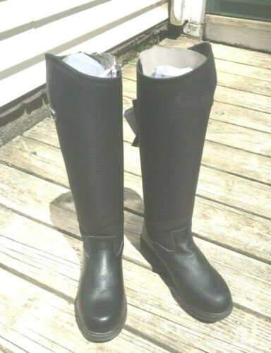"""Mountain Horse Black Rimfrost Thermolite Riding Boots Size US 9; 16 1/2"""" Tall"""