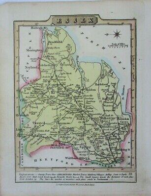 Antique map of Essex by William Lewis 1819