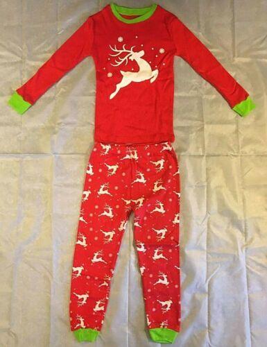 boys/girls red reindeer Christmas pajamas size 4t 2 piece NEW