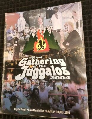 Used, Insane Clown Posse - Gathering of the Juggalos 2004 Program dark lotus blaze icp for sale  Shipping to Canada