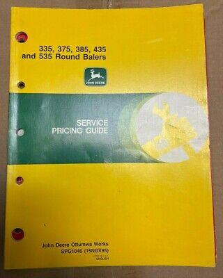 John Deere 335375385435535 Round Balers Service Pricing Guide Spg1040 C-5