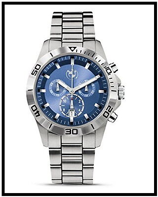 Original BMW Herren Armbanduhr Sport Chronograph Uht 80262406691 Wasserdicht NEU