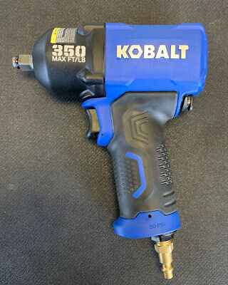 Kobalt Pneumatic Air Impact Wrench 38 Drive 350 Max Ftlb - New Open Box