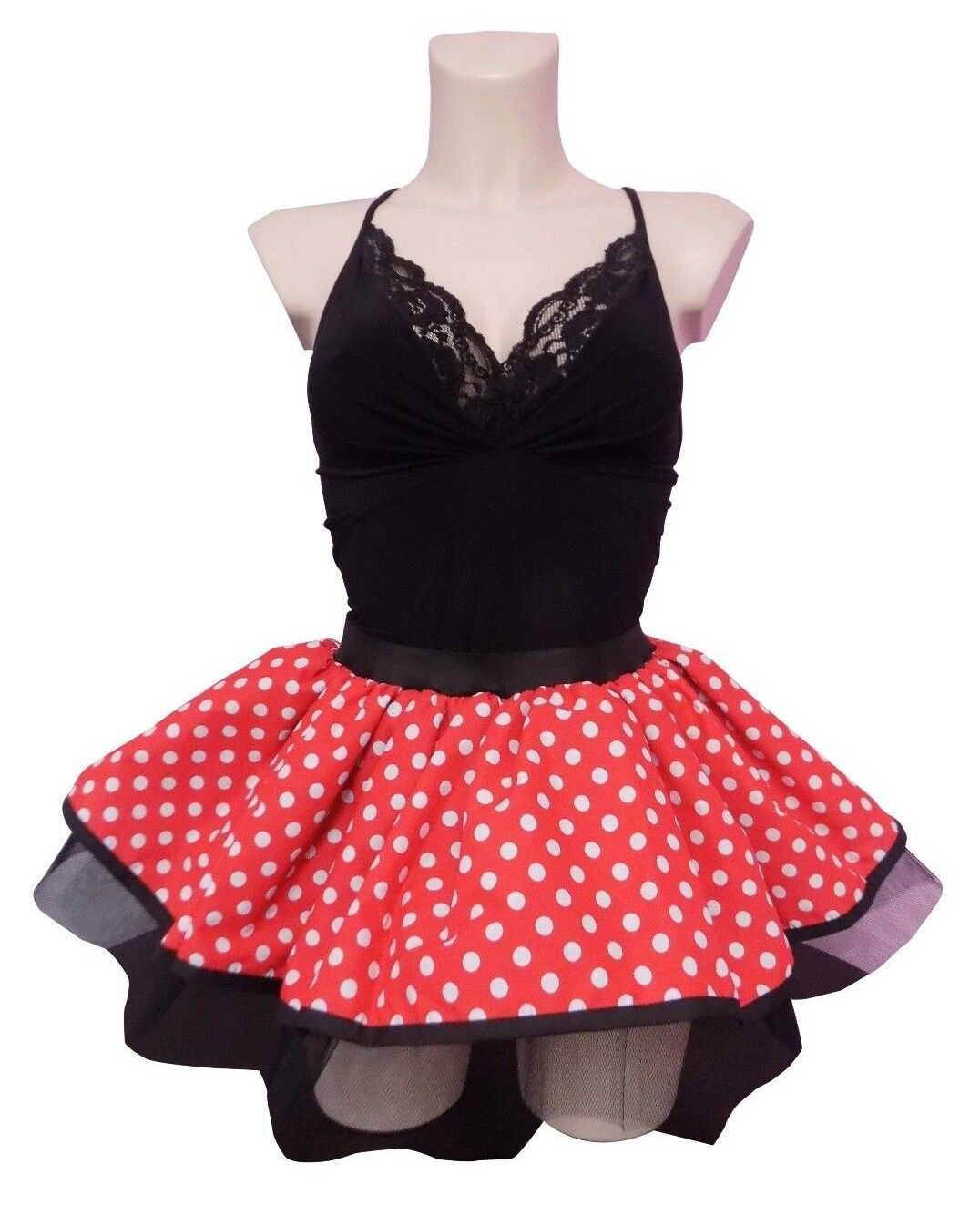 Pink Mini Mouse Style Tutu Skirt Baby Girls Ladies Fancy Dress Hen Party Costume