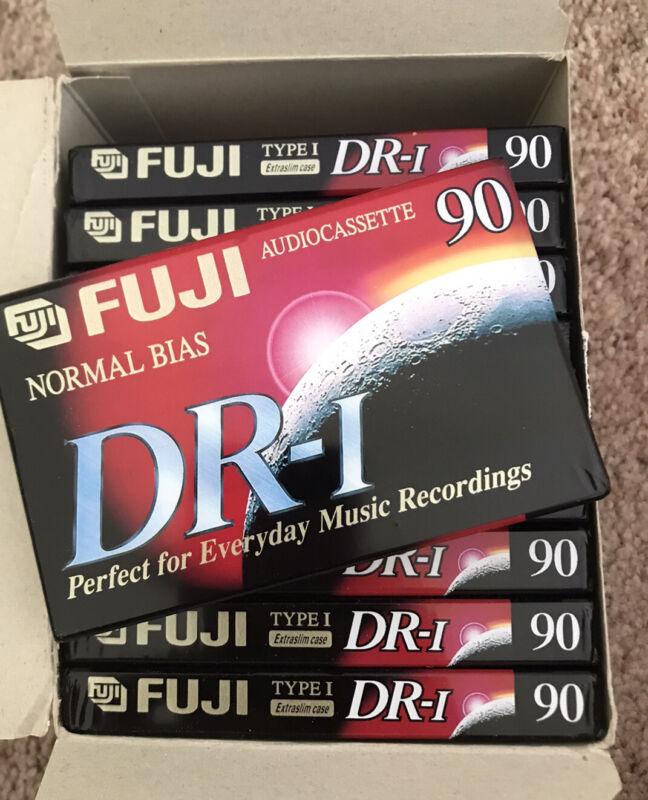Ten 10 Pack FUJI Audio Cassette Tapes DR-I Normal Bias 90min Extraslim