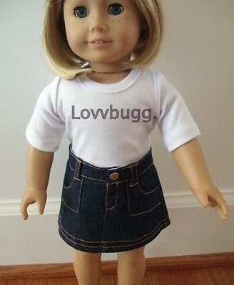"Lovvbugg 2-Pocket Denim Skirt for 18"" American Girl Doll Clothes"