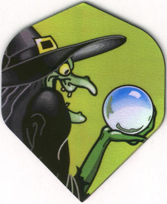 Witch with Crystal Ball Dart Flights: 3 per set (Witch With Crystal Ball)