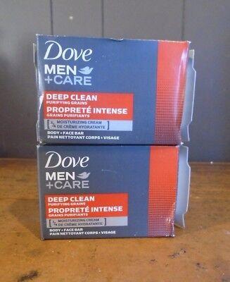 Dove Men + Care Deep Clean Body + Face Bar (2 - Care Deep Clean Body