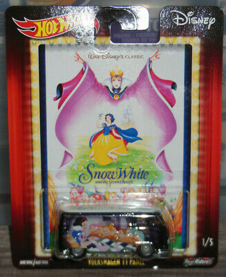 2018 Hot Wheels Disney POP CULTURE 1/5 Volkswagen T1 Panel SNOW WHITE