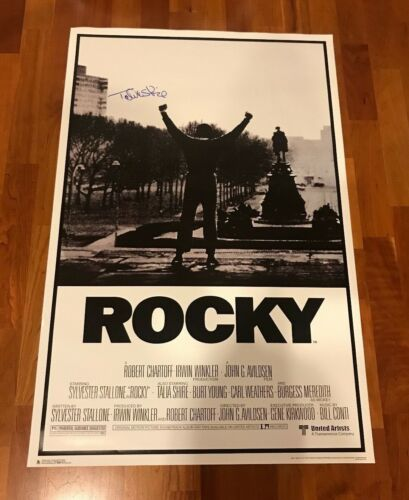 * TALIA SHIRE * signed 24x36 full size movie poster * ROCKY * ADRIAN * PROOF * 1