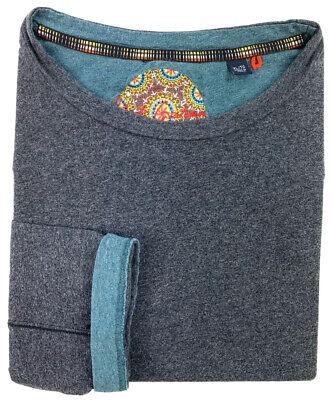 Robert Graham Mens XL Long Sleeve Gray Heathered Modern Casual Crew Neck T-Shirt Casual Crew Neck Design