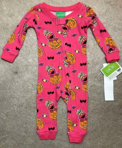 Elmo Baby Halloween Pink Cotton PJ- Girl Size 12,18 Months -NEW $22