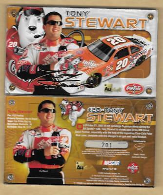 Authentic Images 24 Kt Gold TONY STEWART #3500 HOME DEPOT 20 Signature Chevy