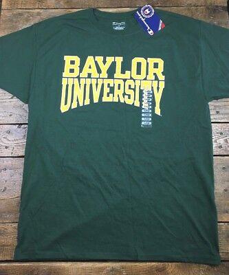 Baylor University Bears Champion T Shirt Short Sleeve Green Mens Size Large L D1 Baylor University Bears