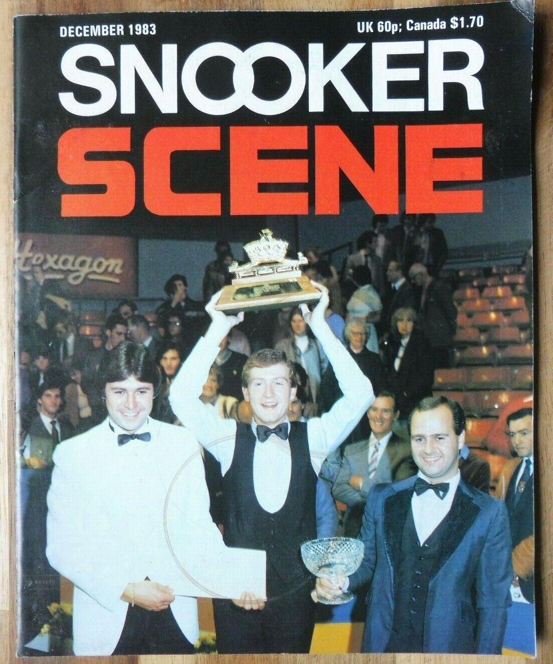 Snooker Scene Magazine, December 1983, Good Condition.