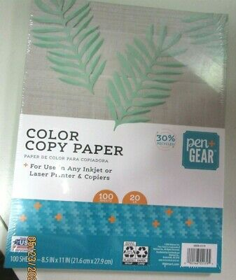Color Copy Paper ...20 Lb. 100 Sheets..for Use In Any Inkjet Or Laser Printer