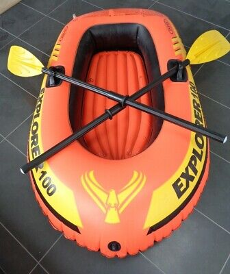1 Person Inflatable Dinghy Boat With 2 Oars . READ DESCRIPTION.COLLECTION ONLY