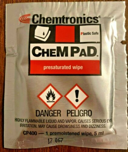 Chemtronics Chempad Presaturated Wipes CP400 - Lot of 100