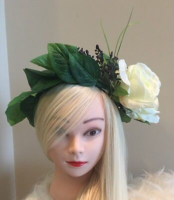 FLOWER HEADBAND CROWN HAIR FLORAL HEAD HALO WREATH EDM FESTIVAL TIARA WEDDING (Edm Headbands)
