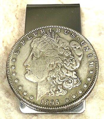 1895 Morgan Dollar Coin Token Not Silver Souvenir Money Clip + Gift Box!