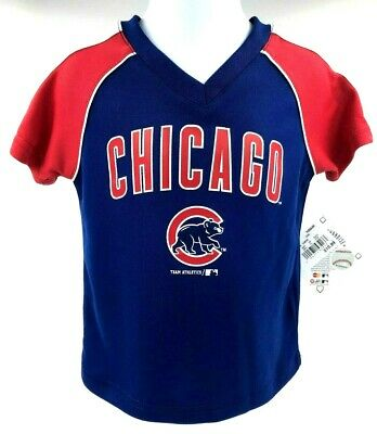 Chicago Cubs Toddler V-Neck Pull Over Jersey / Shirt - Sizes: 2T, 3T, 4T ()